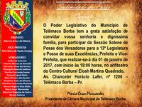Convite para a Sessão Solene de Posse